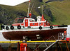 Iceland (Westman Island), June 2014, Overseas Adventure Travel (OAT) trip.<br /> Someone was inside the boat working on it.  Maybe it will sail again!