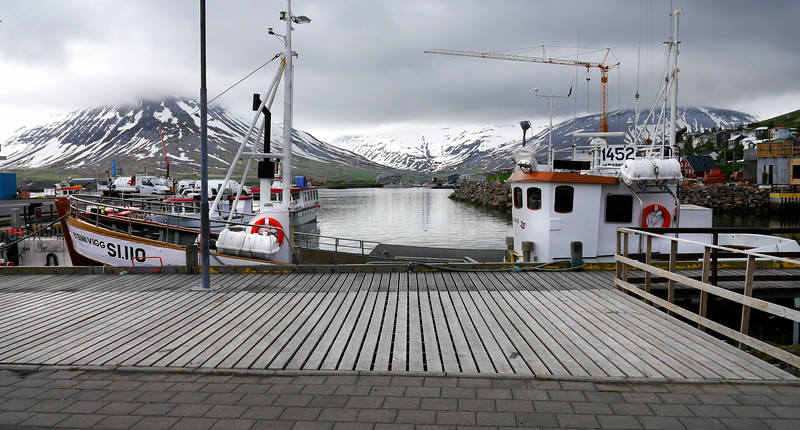 "Iceland, June 2014, Overseas Adventure Travel (OAT) trip.<br /> Siglufjörður. This is Iceland's nothernmost town.  It grew up around the herring industry that flourished in the 1940s and 1950s, but the herring are gone now.  We have a wonderful lunch at the ""Hannes Boy"" restaurant and then tour the Herring Museum and walk around the small town."