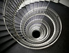 Iceland, June 2014, Overseas Adventure Travel (OAT) trip.  <br /> Circular staircase in the Hilton Reykjavic Nordica hotel.