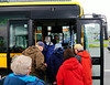 Iceland, June 2014, Overseas Adventure Travel (OAT) trip.  Reykjavik.<br /> Some of us take a local bus downtown.