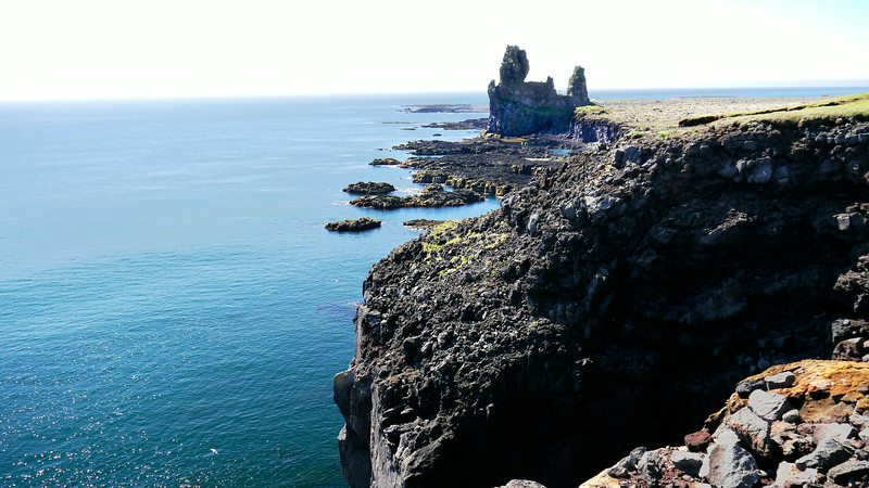 Iceland, June 2014, Overseas Adventure Travel (OAT) trip.<br /> Views along the coast at Arnarstapi.