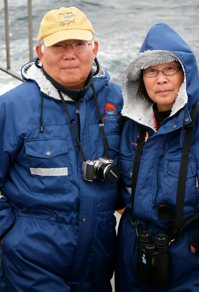 """Iceland, June 2014, Overseas Adventure Travel (OAT) trip.<br /> Mel & Anna.  Departing from the fishing village of Dalvik we head out on a restored wooden fishing boat, the """"Draumur"""", for whale watching and fishing.  Only saw one whale but caught a lot of fish."""
