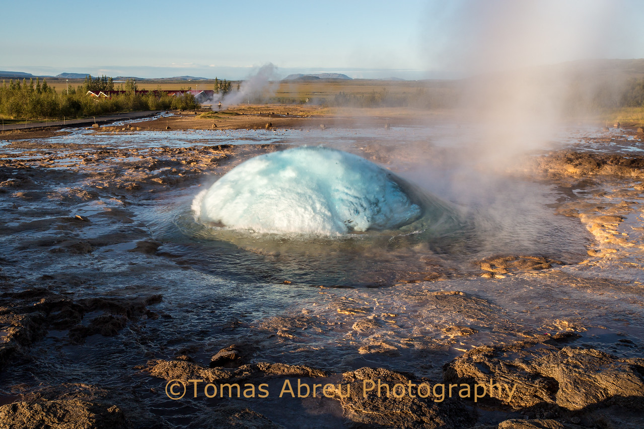 Getting ready to erupt!! Geyser, Iceland