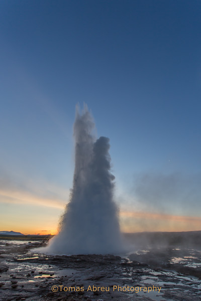 Geyser eruption...