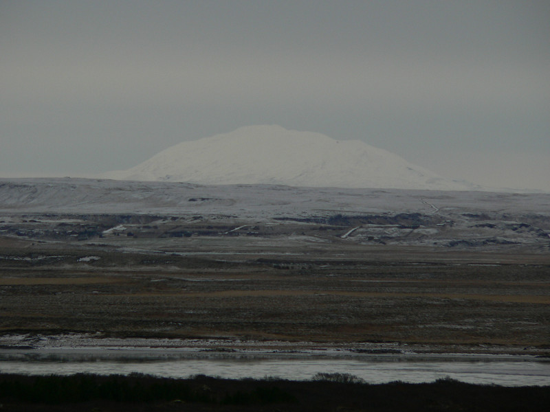 Ask Corey how to say . . . . well, this one is easy. Mt. Hekla (1491 M) towers over the area.