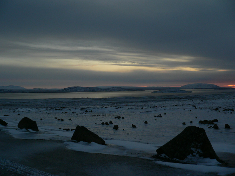 "Sunrise, Nov 24, 2008. It is about 10:00 am. This overlooks a lake, called ""Þingvallayatn"", one of the most historical areas in all of Iceland."
