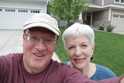 Kent & Sarah outside their Middleton, Wisconsin home on Thursday, May 30th 2019