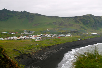 Town of Vik, South Iceland, black beach. I loved this little town, very nice.