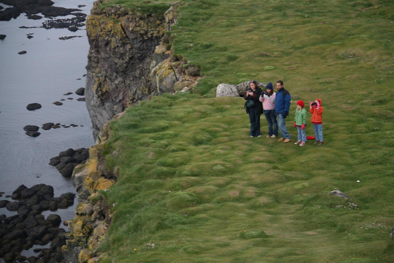 The Gottliebs on Latrabarg cliffs.