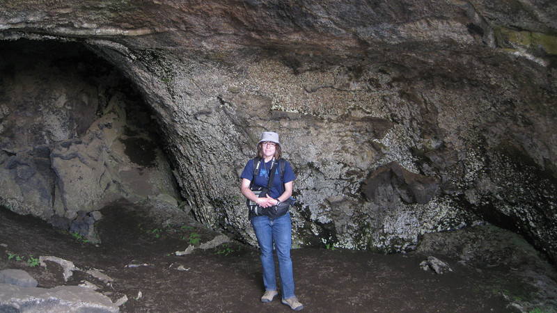 Me in a lava cave on a hike in North Iceland.