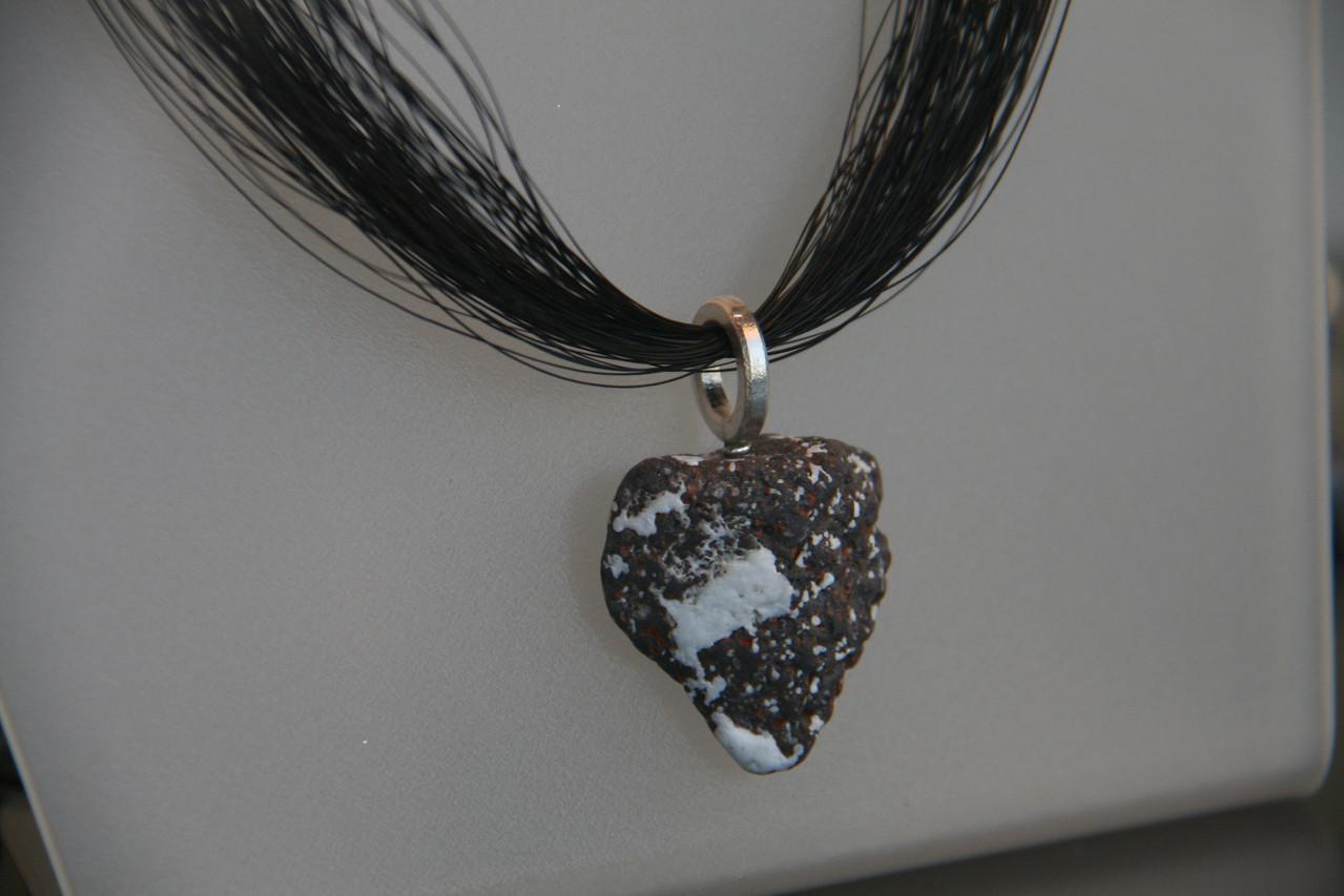 Fancy volcanic jewelry.
