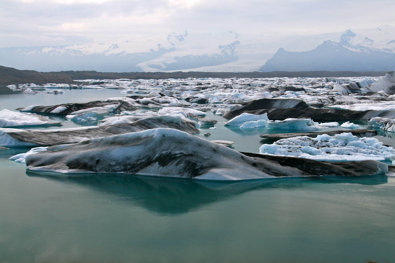 Glacier Lagoon. We took a boat ride in here.