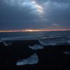 Sunrise from the beach at Jokulsarlon