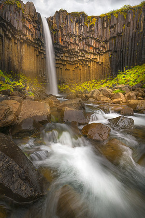 Basalt Columns at the Svartifoss Waterfall