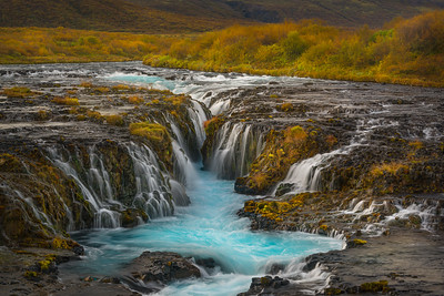Autumn at Bruararfoss waterfalls