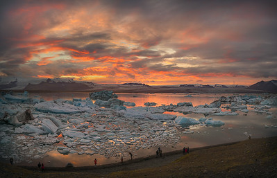 Sunset Over Glacier Lagoon