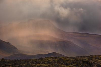 Storm over Snaefellsjokull Glacier