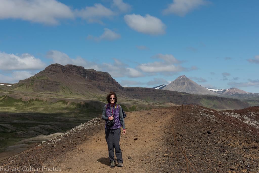 Lisa and I climbed up a (hopefully) dormant small volcano.