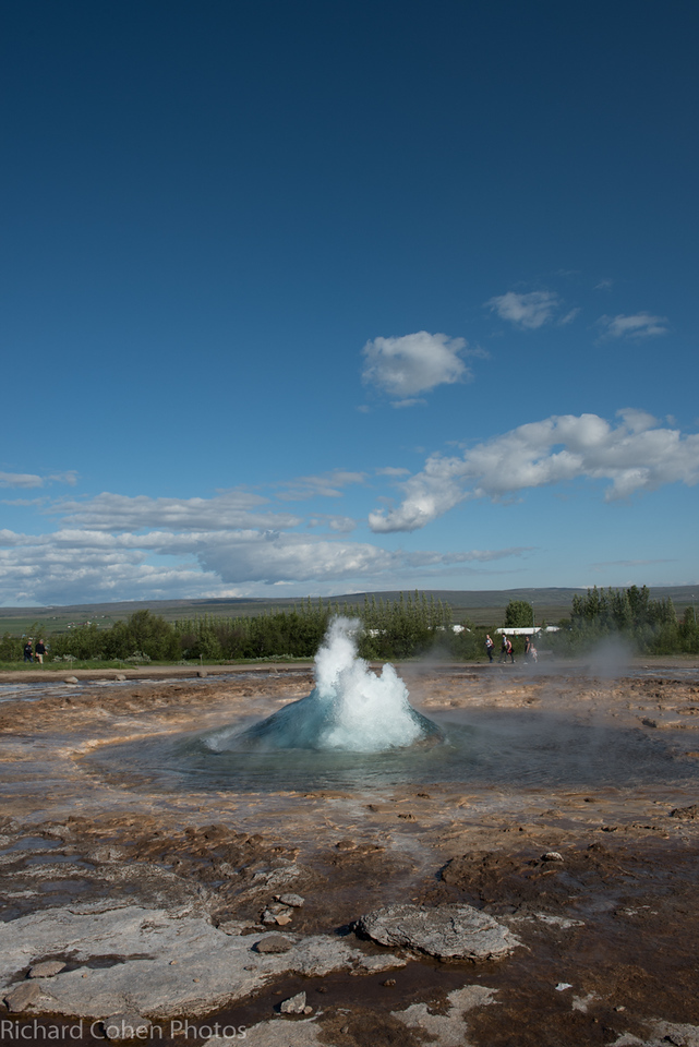 Geysir, Iceland. First in a series. This guy went off about every five minutes. One of the biggest geysers in the world.