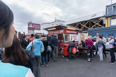 The hotdog stand where Bill Clinton bought his hotdog.  This is the most famous hotdog stand in Iceland.  And yes, the hotdogs are delicious.