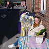 Joan in front of the hotel - at what I was hopping was second hand cloth's shop (NOT) <br /> June 7 2012