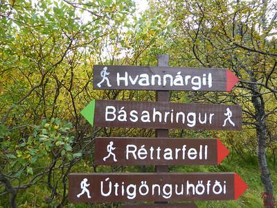 Basahringur hike sign