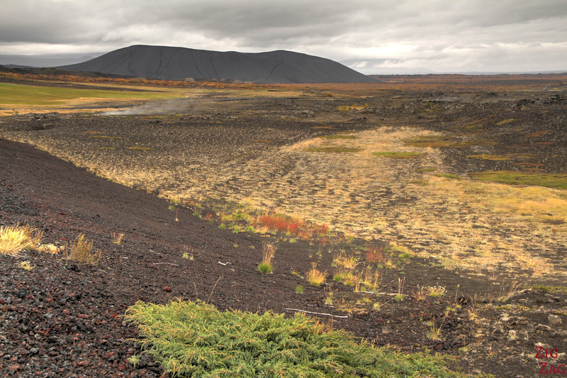 Volcanic Crater Hverfjall Iceland