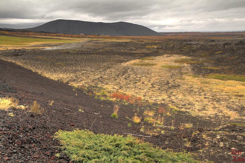 Cratère Hverfjall vu de loin