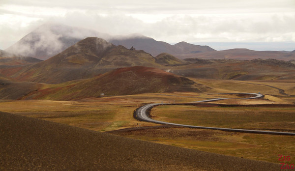 Views from Viti crater, North Iceland
