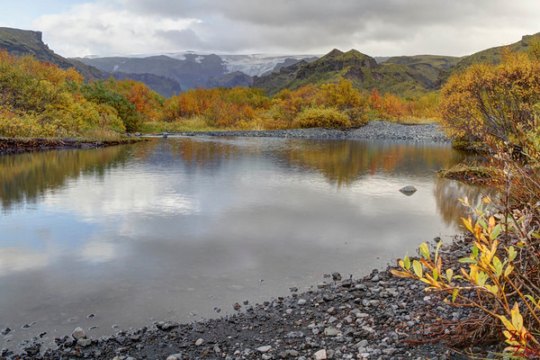 Thormork valley photo autumn colors