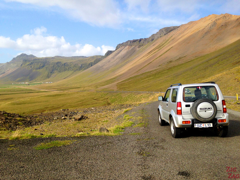 rent a car in Iceland for road trip