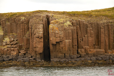 Boat trip Stykkisholmur basalt formations islands