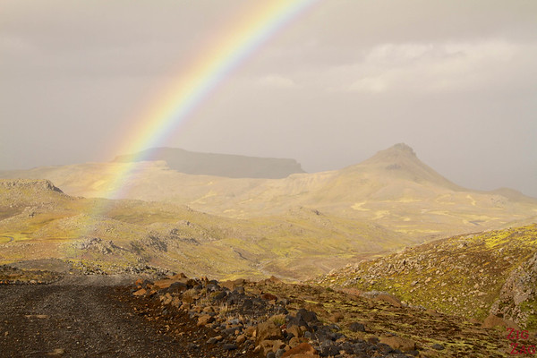 rainbow on road F570, Snaefellsjokull