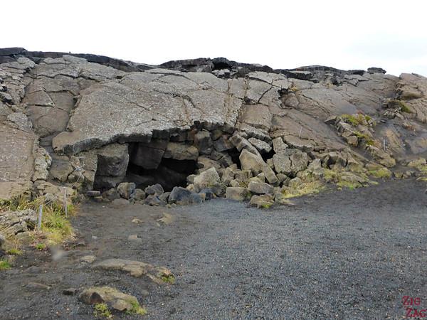 Entrée Cave Grjotagja Islande Lac Myvatn 1