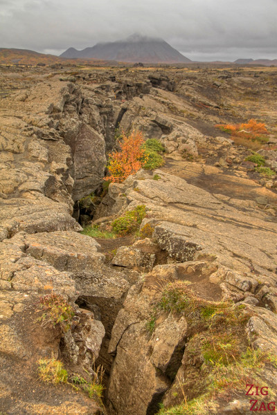 Fissure over Grjotagja cave, Iceland photo 2