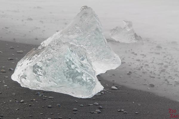 Iceberg sur la plage de Jökulsárlón Islande 1