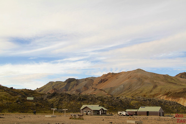 Camping at Landmannalaugar campsite