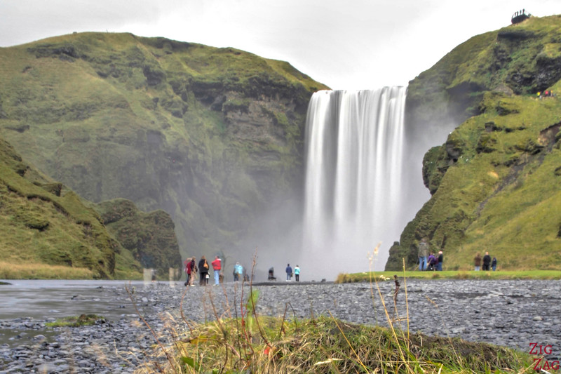 Skogafoss waterfall Iceland view from afar 2