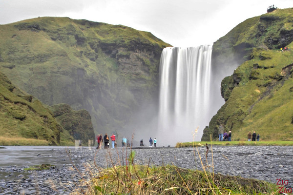 Skogafoss waterfall Iceland view from afar 2