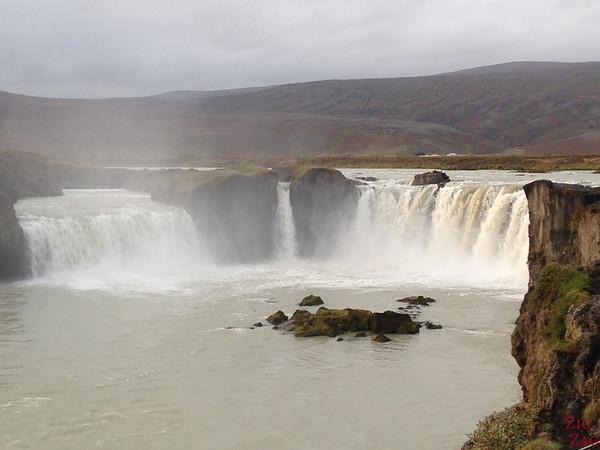 Chutes de Godafoss Islande - Berge Ouest