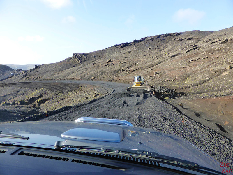 Driving on Gravel roads in Iceland