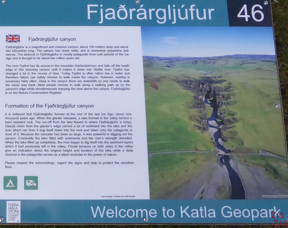 Indication Fjadrargljufur canyon Iceland