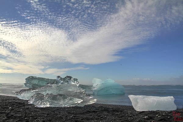 Iceberg sur la plage de Jökulsárlón Islande 6