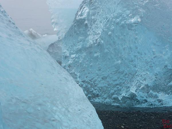 Iceberg sur la plage de Jökulsárlón Islande 3