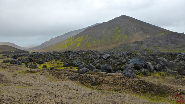 Black lava on road F570, Snaefellsjokull