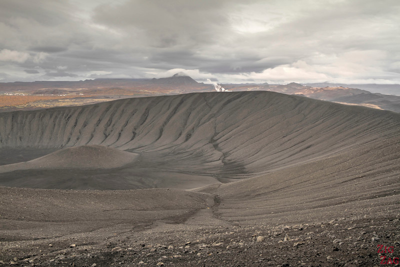 From the Rim of Hverfjall crater, photo 1
