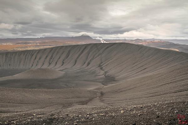 Marcher sur Hverfjall Islande cratère Lac Myvatn 1