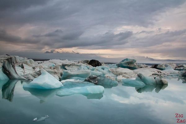 Reflets à Lagon Jokulsarlon Islande météo 1