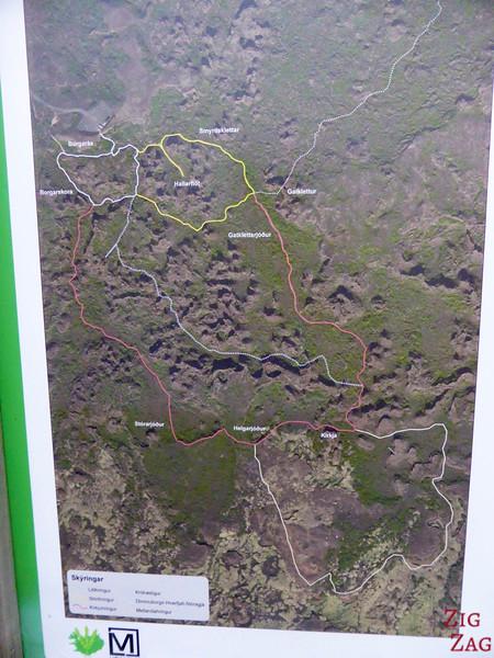Carte Dimmuborgir Islande