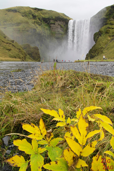 Skógafoss waterfall Iceland view from afar 1